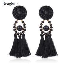 Beagloer Brincos Wanita Boho Drop Dangle Fringe Earring Vintage Etnik Kenyataan Subang Rumbai Barang Kemas Fesyen