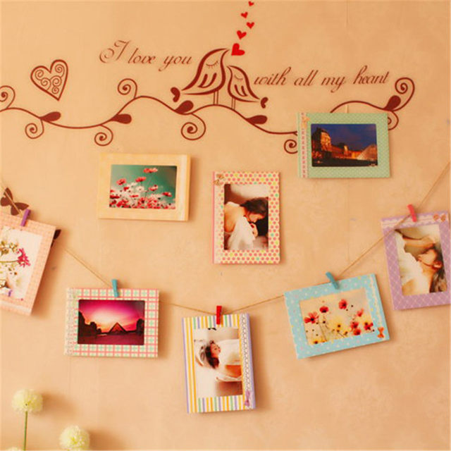 Online Shop Home Warm Family Personalized Photo Wall Diy Hanging