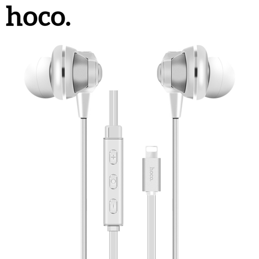 HOCO L1 HiFi Bass Stereo Earphones In-ear Earphone Wired For Apple iPhone Plug Digital Music Player