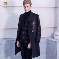 Fanzhuan Free Shipping New 2017 Male men's European court embroidery coat 2017 winter suit Baroque man long coat suits 710217