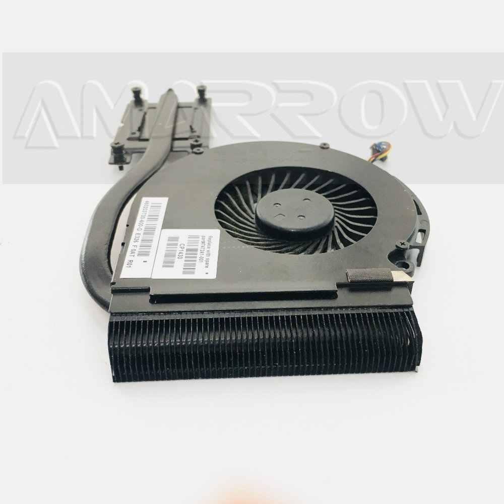 Oryginalny darmowa wysyłka laptop wentylator chłodzenia radiatora wentylator chłodnica procesora dla HP 14-A 14-D 15-D 246 240 250 G2 procesora radiator 747241 -001
