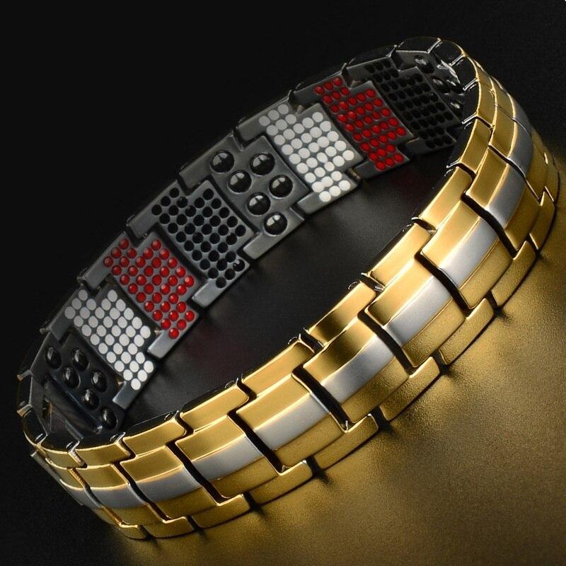 Bracelet en titane énergie énergie énergétique Bracelet pour l'arthrite, avec rayon infrarouge lointain, poudre de Germanium belle boîte-cadeau
