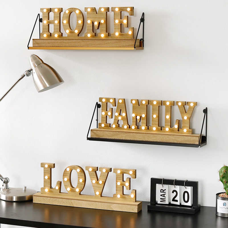 Detail Feedback Questions about Light Up Wooden letters LOVE HOME
