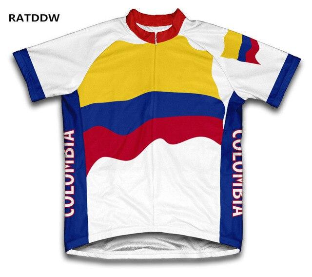 68fdaf4aa74f Colombia Ciclismo Jersey Bicicletas bicicleta manga corta ropa deportiva  ropa ciclismo Quick-Dry Racing