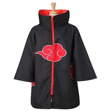 Hot Sale Anime Naruto Akatsuki /Uchiha Itachi Costume Cosplay Cloak Cape Halloween Christmas Party Clothing