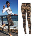 2017 New Brands Women Leggings High Elastic Skinny Camouflage Legging Spring Autumn Slimming Women Leisure Pants