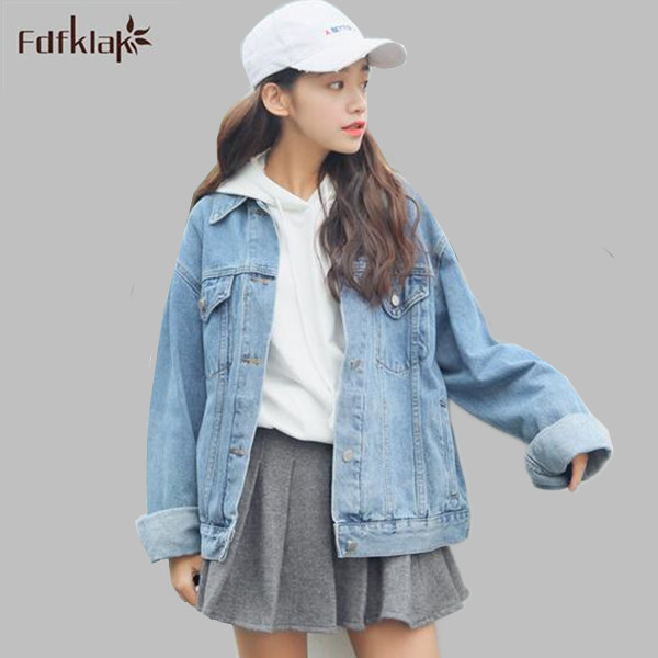 0808f3ed5dd Chaquetas formales mujer new casual denim jacket for women big size loose  jeans jacket korean women s autumn coat A674