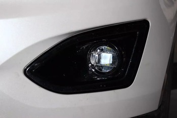 led fog lamp daytime running light with projector lens, 2 modes, white in day and blue in night, for Toyota, 100% waterproof