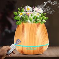 550ml Aroma Essential Oil Diffuser Ultrasonic Air Humidifier With Wood Grain Electric LED Lights Aroma Diffuser
