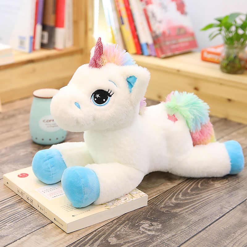 Большие чучело Детские Куклы Kawaii мультяшный Радужный Единорог плюшевые игрушки для детей подарок на день рождения