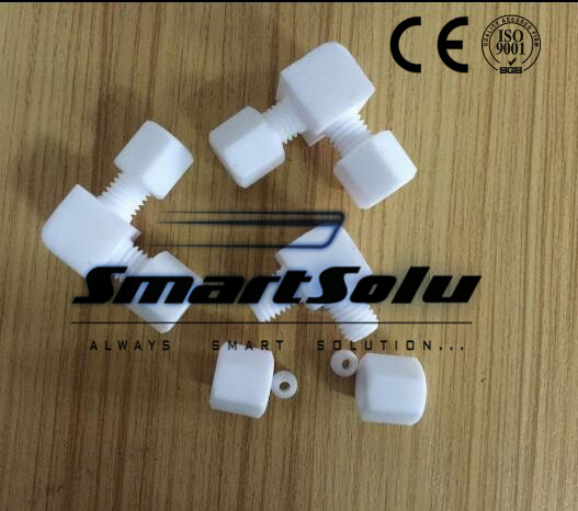 Free shipping 10pcs/lot PTFE elbow fittings O.D. 10mm-10mm tube elbow plastic fittings