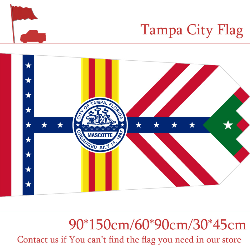 City Flag Of Tampa 90 150cm 60 90cm Flag 3x5ft Polyester Flags 30 45cm Car Flag For Campaign Vote Event Office in Flags Banners Accessories from Home Garden