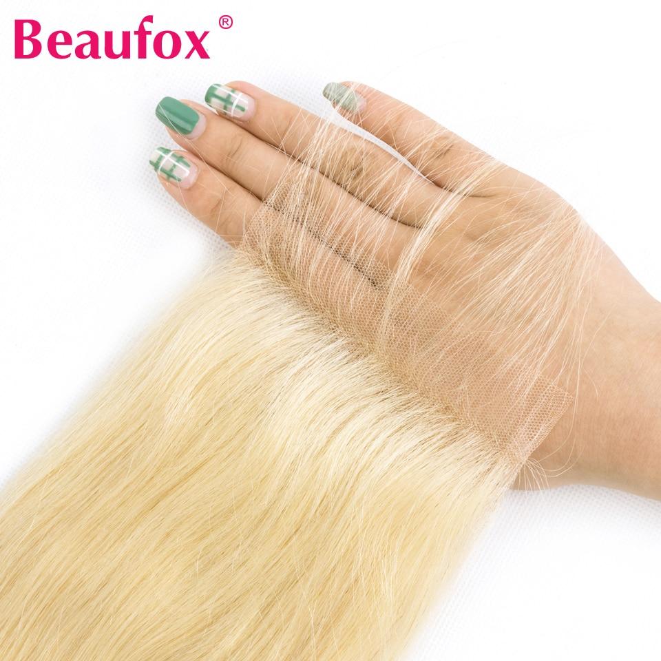 HTB1aBn6QbPpK1RjSZFFq6y5PpXaf Beaufox 613 Blonde Bundles With Closure Brazilian Body Wave 3 Bundles With Closure Blonde Human Hair Bundles With Closure Remy
