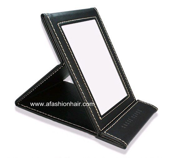 1pc BB Style in folding beauty portable makeup mirrors make up women light pocket desktop brand mirror chocolate