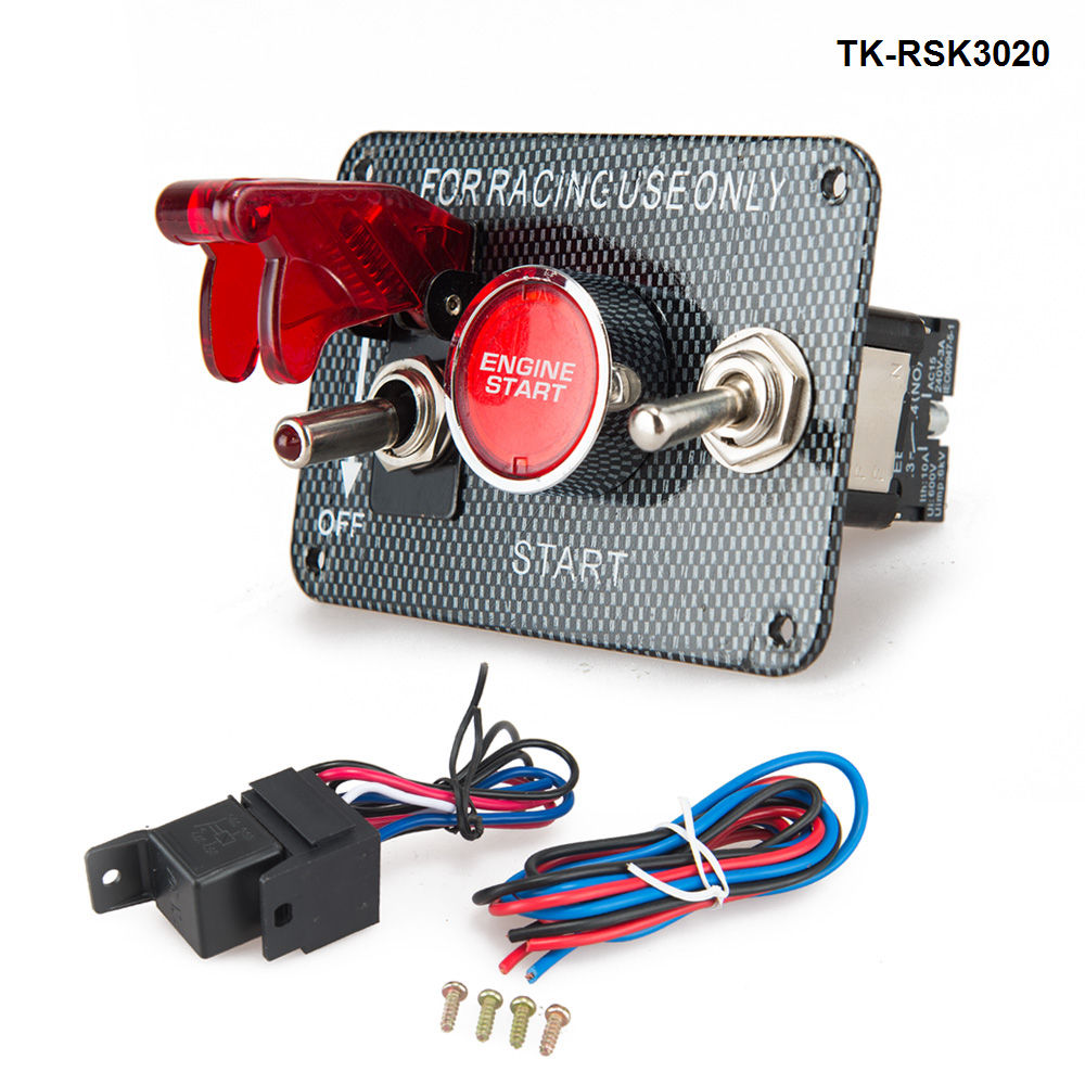 60mm Df Bf Gauge Car Air Fuel Ratio Meter Red And White Light Auot Race Ignition Switch Panel Wiring Racing Carbon 12v Engine Start Push Button Toggle Tk Rsk3020
