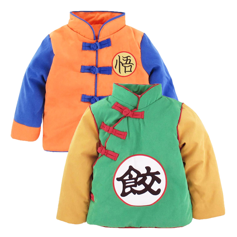 Baby Boy Girl Goku Costume Winter Jacket Toddler Dragon Ball Z Outwear Coat Cute Halloween Party Winter Clothes(China)