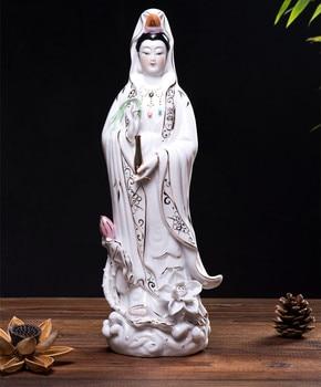 36 cm #OFFICE home protective-efficacious House Protection Religious Buddhism Songzi Guan Yin Avalokitesvara porcelain Figurine