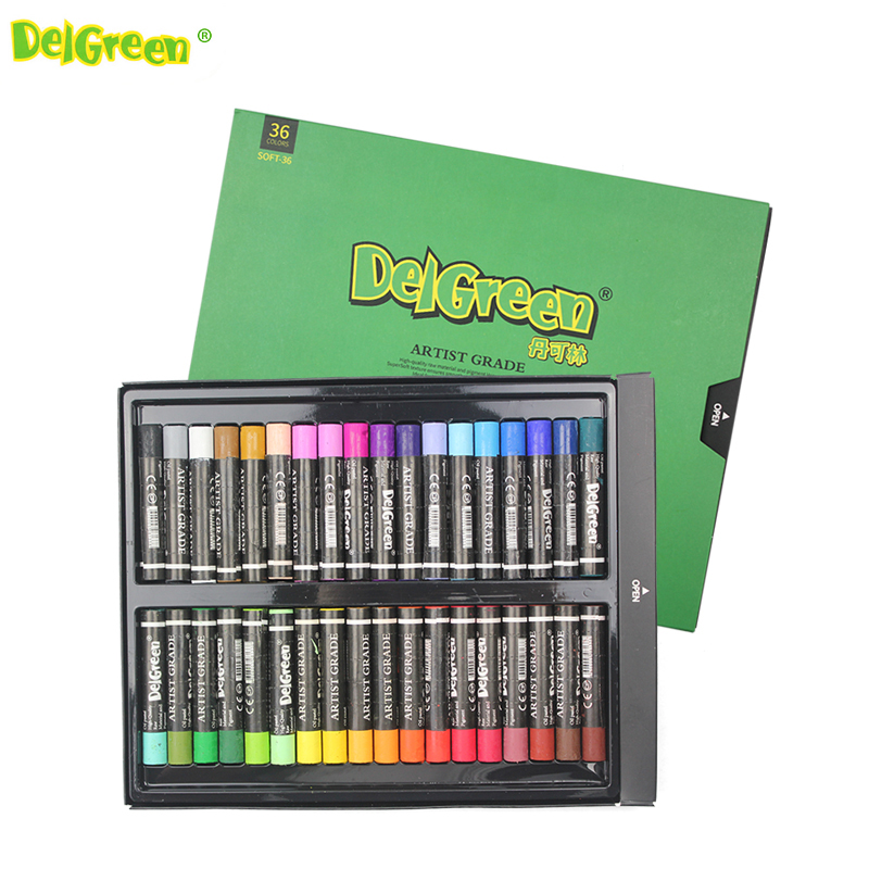 Delgreen 12/24/36 Colors Non-Toxic Crayons Artistic Oil Painting Stick Oil Pastel Drawing For Children School Office Art Supplie 25 colors artist s oil pastels color crayons non toxic art drawing pens