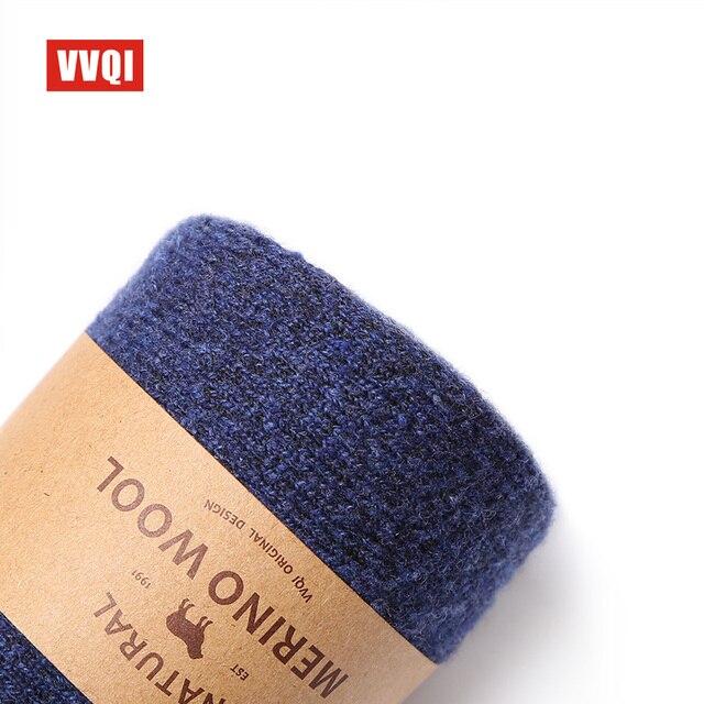 VVQI marque mérinos laine chaussettes style japonais hiver serviette cachemire chaussettes sommeil chaud hommes pantoufle chaussettes 4 paires velours robe chaussettes