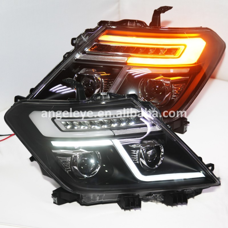 LED front lamp For NISSAN Patrol Royale for Infiniti QX56 LED Head Light with projector lens 2010-2014 Year black housing LDV2