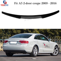M4 Style Carbon Fiber Rear Spoiler Trunk Wing for Audi A5 2 door Coupe 2009 2016 Boot Lid Tail Lip Spoiler