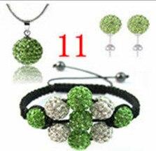 Free shipping! TGFHRDCCS CZ Disco Ball Beads Set Bracelet Earring fasion women Gift jewelry New Style. crystal shamballa