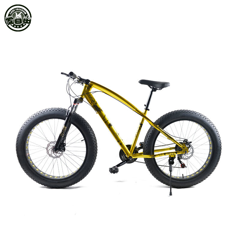 Love Freedom Fat bike 26 inch 21-speed 24-speed off-road beach cars snow 4.0 super wide tire mountain bike men and women student ковер love of snow