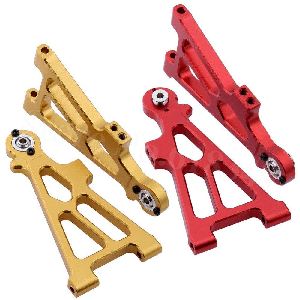 2pcs Aluminum Alloy Front Lower Susp Arm (L/R) For Himoto Tanto E10XB E10XBL E10SC E10DB 33202 (33202G)