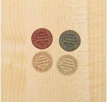 Sello de diseño redondo de Corea, adhesivo para manualidades multifunción, etiquetas de regalo, serie especial Vintage, 160 unids/lote