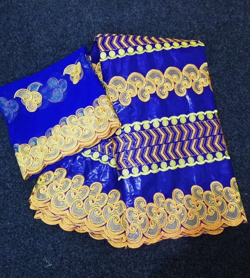 2019 New African bazin riche getzner Fabric High Quality Nigerian French 100 cotton Net Lace Fabrics