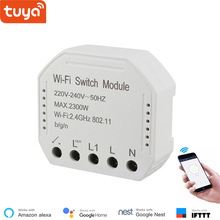 Módulo de interruptor inteligente WiFi Tuya convierte tu interruptor antiguo en inteligente, compatible con alexa , google home ,IFTTT, módulo de interruptor de temporizador