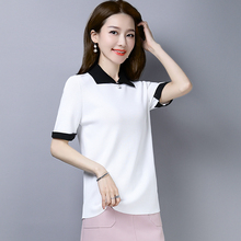 Брендовая футболка, женская летняя футболка, Новая повседневная футболка с короткими рукавами, украшенная бисером, модная популярная цветная прямая футболка, женские топы