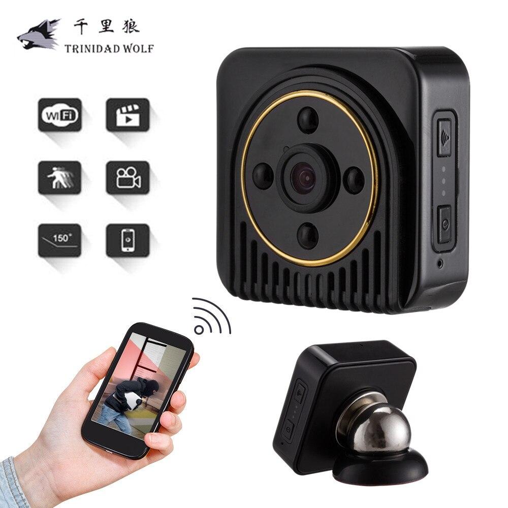 TRINIDAD WOLF H5 Wifi IP Mini Camera Wireless 720P HD Micro Camera IR Night Vision Body Camera Magnetic Motion Detection Mini DV
