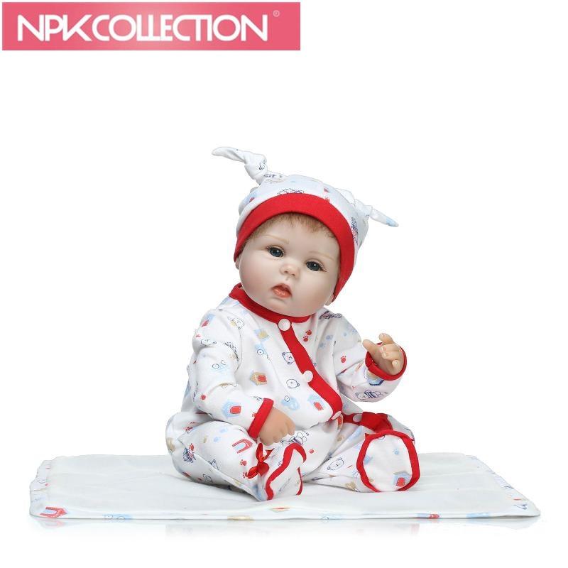 Classic style cute girl Promotion lifelike reborn baby doll soft real touch babydolls full vinyl doll for children Birthday Gift