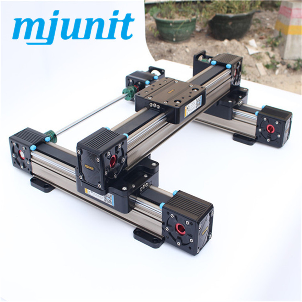 Linear Belt Drive Rail Aluminum Alloy U shape Bearing Slide Unit Guide Miniature linear rail