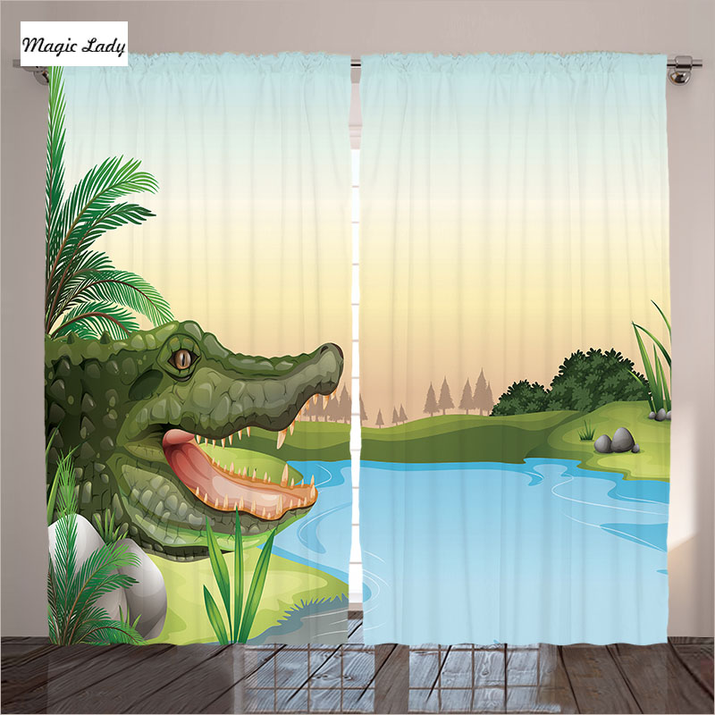 Cartoon Trees Curtains For Bedroom Cotton Linen Towel: Cartoon Curtains Living Room Bedroom Illustration