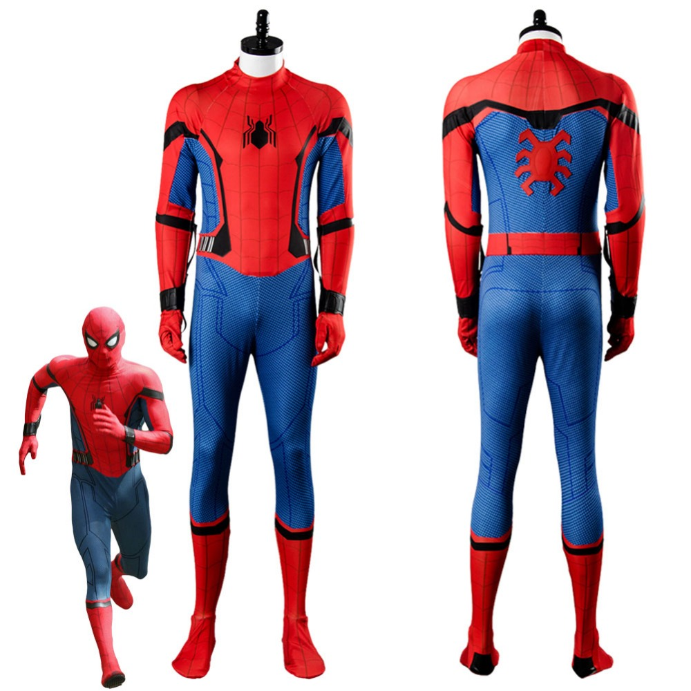 2017 Movie SpiderMan Homecoming Costume Spider man Cosplay Costume Jumpsuit Halloween Carnival Cosplay Costume