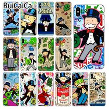 Ruicaica Cartoon Dollar Monopoly TPU Soft Silicone Phone Case Cover for iPhone 5 5Sx 6 7 7plus 8 8Plus X XS MAX XR