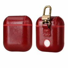 Genuine Leather Headphone Bag Case Cover for Apple AirPods Protective Charging Bluetooth wireless Earphone Cases Boxes цена