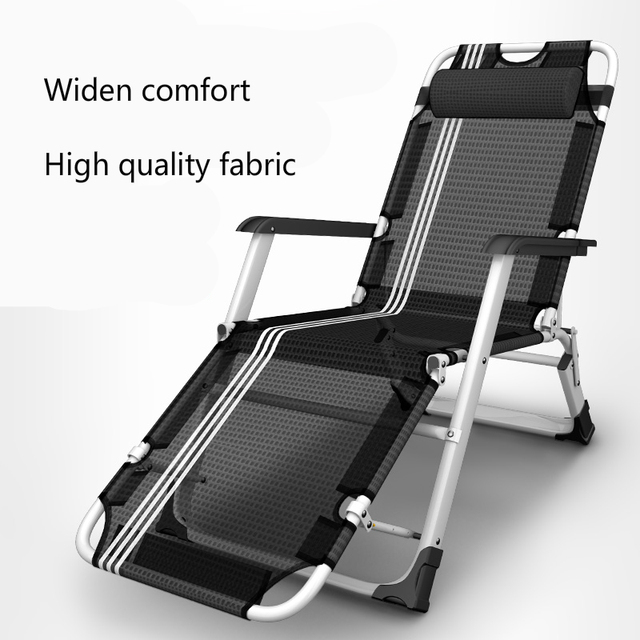 Siesta Lounge Chair Folding Simple Accompany Bed Household Office Recliners  With Armrest Steady No Noise Save