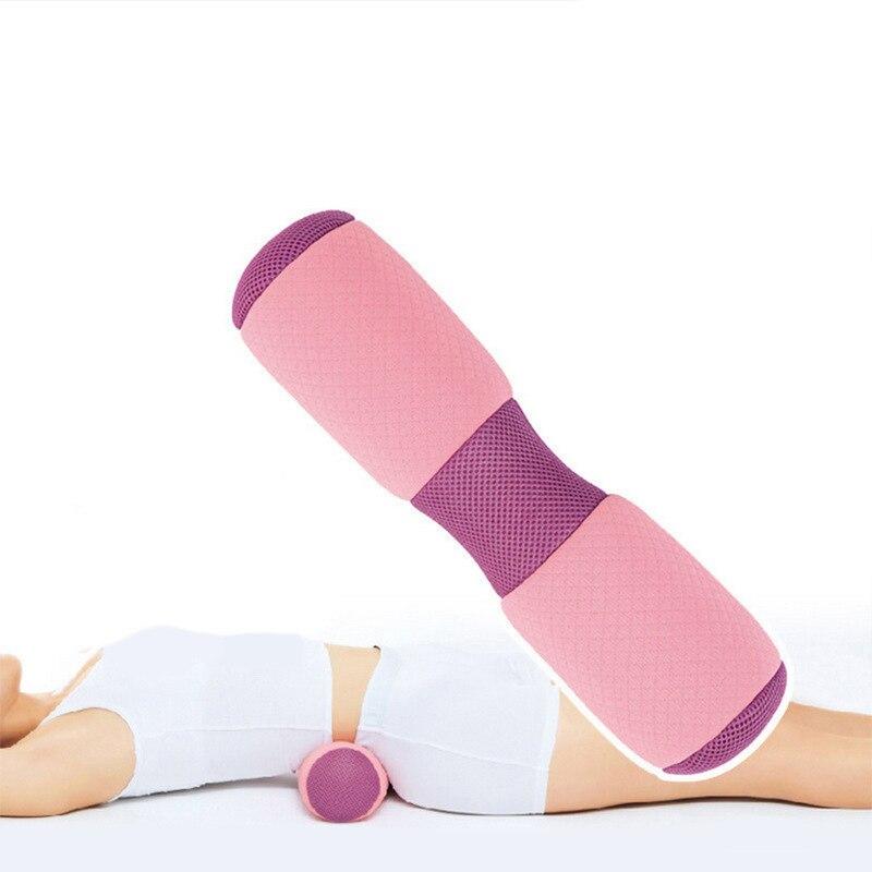 Multifunctional Yoga Waist Neck Back Pillow Rebound Breathable Memory Foam Yoga Stick Cervical Pain Release Pillow 38*10cm