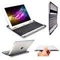 Симпатичные Черный Бесплатная Доставка + Slim Алюминиевый Беспроводная Клавиатура Bluetooth Стенд Дело Обложка Для iPad 2/3/4