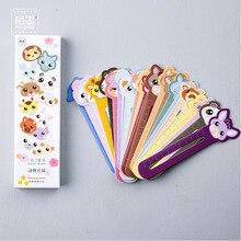 30 шт милый кот закладки бумажные Мультяшные закладки с животными рекламный подарок канцелярские пленки закладки