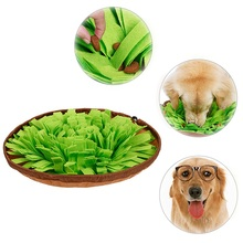Popular Pet Toys Dog Feeder Round Sniffing Pad Bed Washable Training Blanket Feeding Mat Piecing Product