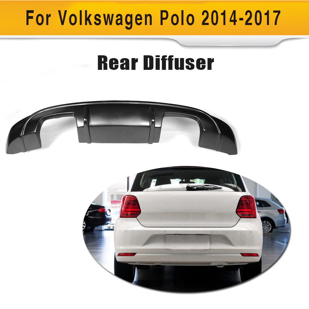 FRP unpainted car rear bumper lip diffuser fit for VW POLO 2014-2017