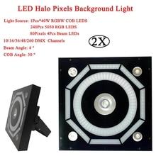 2Pcs/Lot LED Halo Pixels Background Lights Decorative Stage Lighting Effect Equipment Sound Party Club DJ Disco Bar Lights все цены