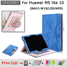 Case For funda Huawei mediapad M5 Lite 10 BAH2-W19/L09/W09 Cover for Huawei T5 10 AGS2-W09/L09/L03/W19 Tablet case Honor Pad 5 painted case for mediapad m5 lite 10 tablet protective stand cover for huawei bah2 w19 bah2 l09 bah2 w09 2 screen flim