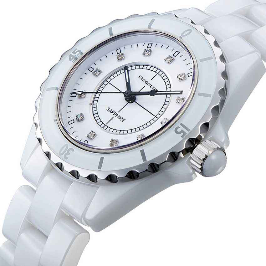 New Fashion Simple Ceramic White Watch Women Casual Business Watches Middle School Student Trend Quartz Wristwatch Reloj Mujer new business casual watch trend fashion business couple watch