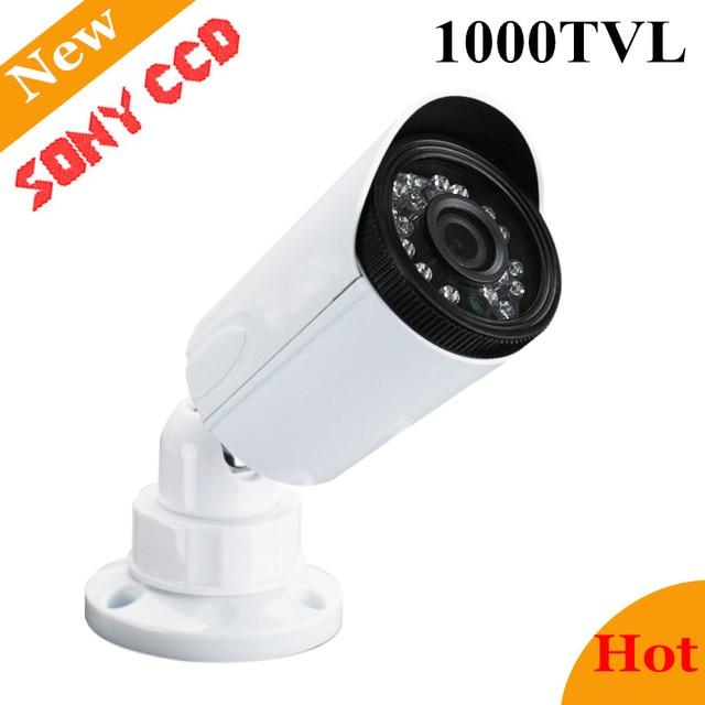 Newest Analog Sony CCD 1000TVL Waterproof Outdoor Security Camera IP66 720p CCTV Camera Home Surveillance Camera CCTV Chamber