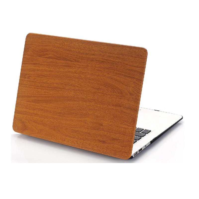 NAUJAS medienos grūdų plastikinis dangtelis Macbook Air 11 13 Pro - Nešiojamų kompiuterių priedai - Nuotrauka 1